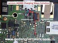 Jalur USB Charger Lenovo A6000 Trick Jumper