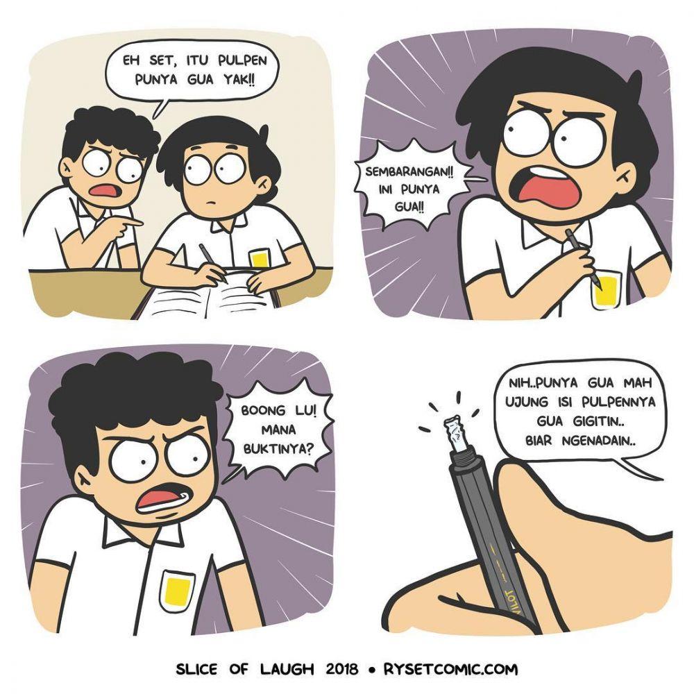 10 Komik Strip Lucu Kehidupan Anak Sekolah Yang Konyol