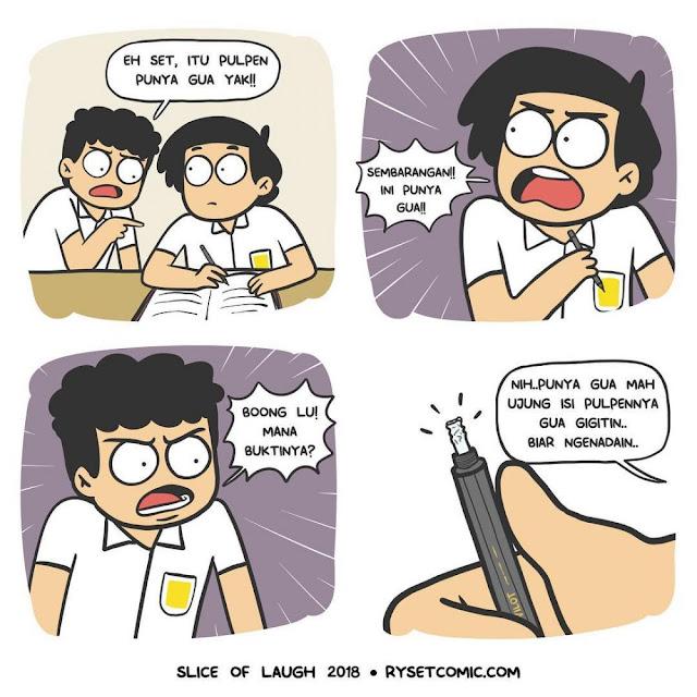 10 Komik Strip Lucu 'Kehidupan Anak Sekolah' yang Konyol Parah