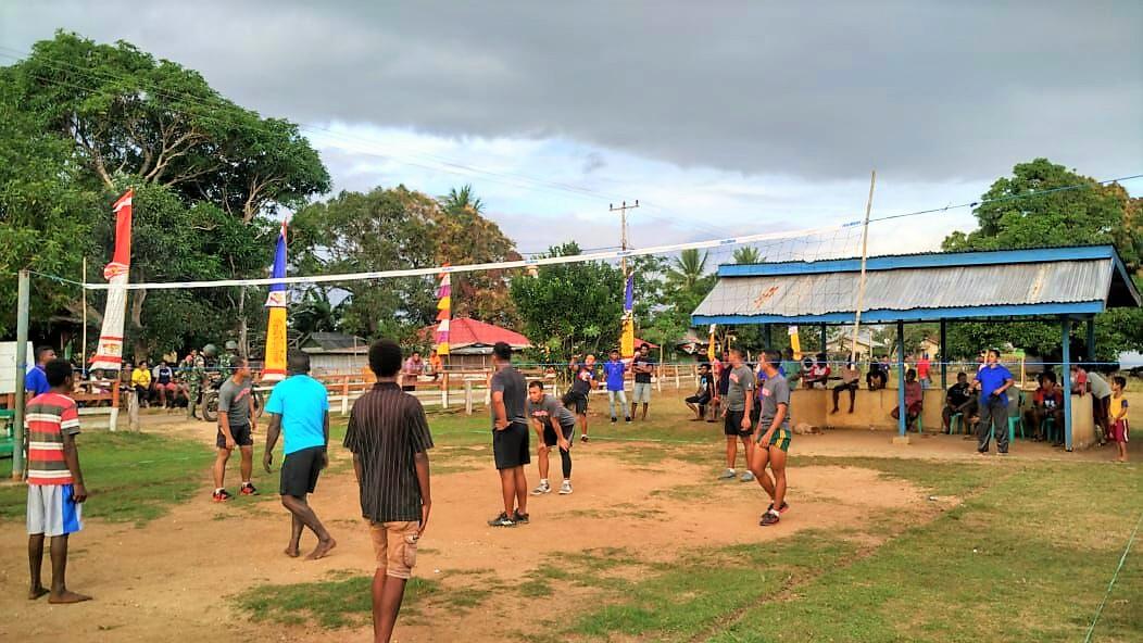 Satgas Yonif 315 Garuda Adakan Turnamen Garuda Cup Dalam Rangka Hut