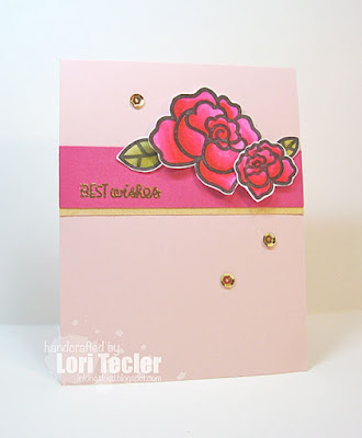 Floral Best Wishes card-designed by Lori Tecler/Inking Aloud-stamps from Paper Smooches