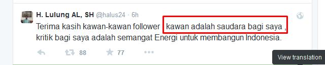 Tweet Haji Lulung