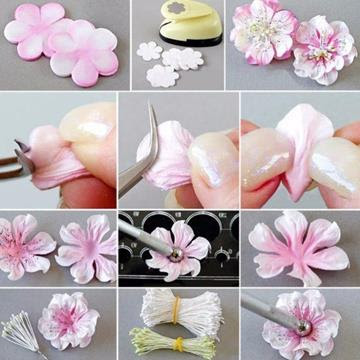 Цветы из мастики пошагово