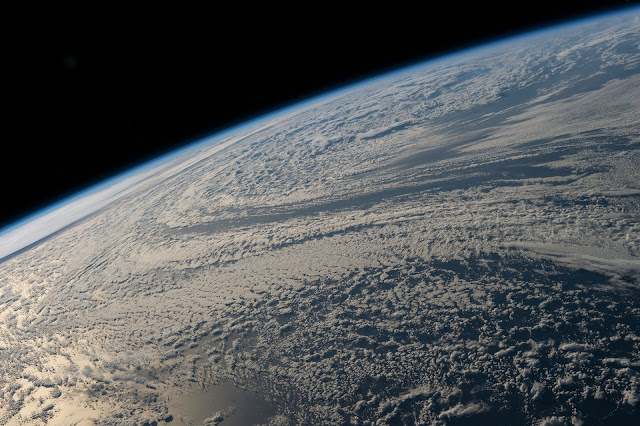 Clouds over South Pacific Ocean seen from the International Space Station