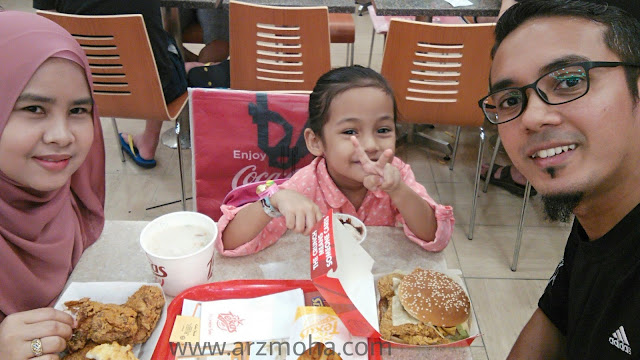 texas chicken penang, santai bersama keluarga di texas chicken, sedap tak texas chicken,