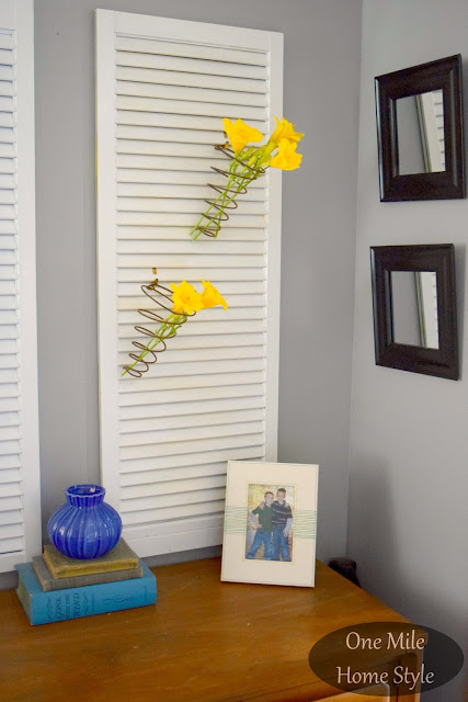 Repurposed Shutter Home Decor - One Mile Home Style