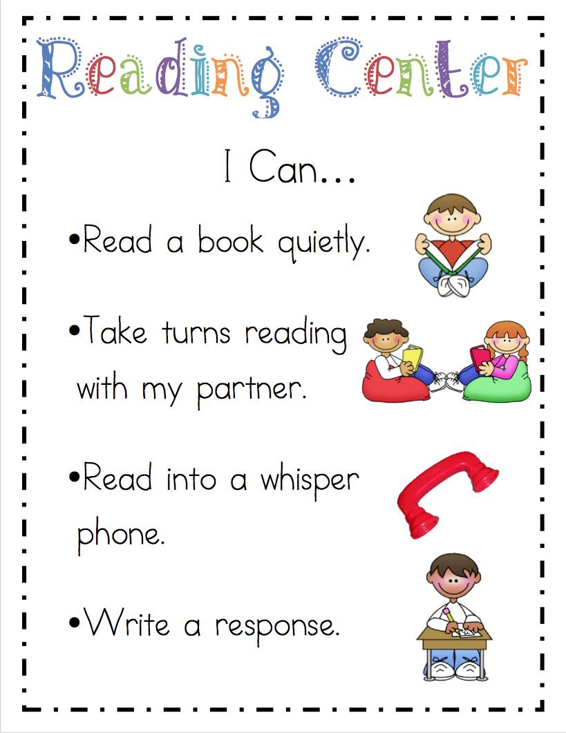 "Mrs. Ricca's Kindergarten: Literacy Center ""I Can"" Cards"