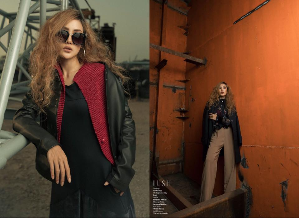 Awn Seng feature in Lush Magazine Cover photoshoot