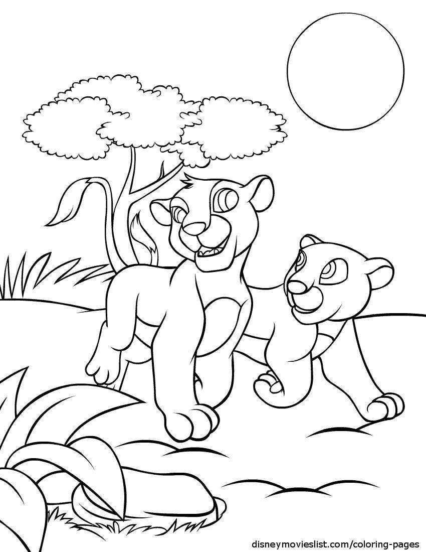 13 Mewarnai Gambar Lion King Pemandangan Kitty Kartun Masjid Alam