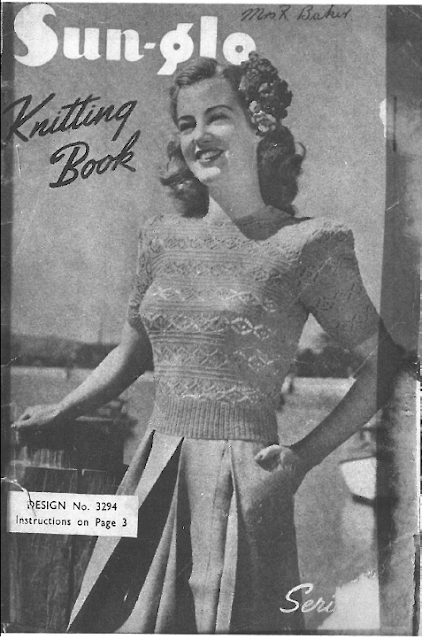 The Vintage Pattern Files: Free 1940s Knitting Patterns - Women's SunGlo Series 92