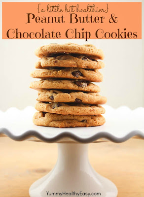 Healthier Peanut Butter & Chocolate Chip Cookies