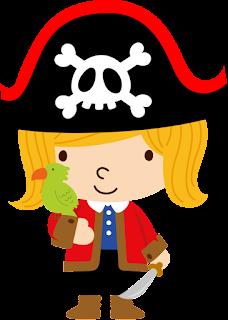 niña pirata con ancla para imprimir