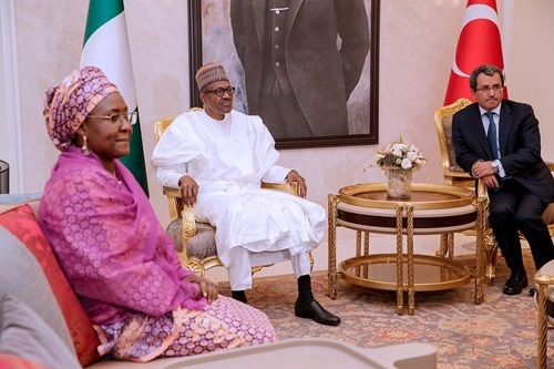 Photos..President Buhari arrives Turkey