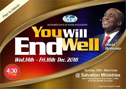 Get Set For November Divine Encounter With Pastor David Ibiyeomie, 5 nights of glory