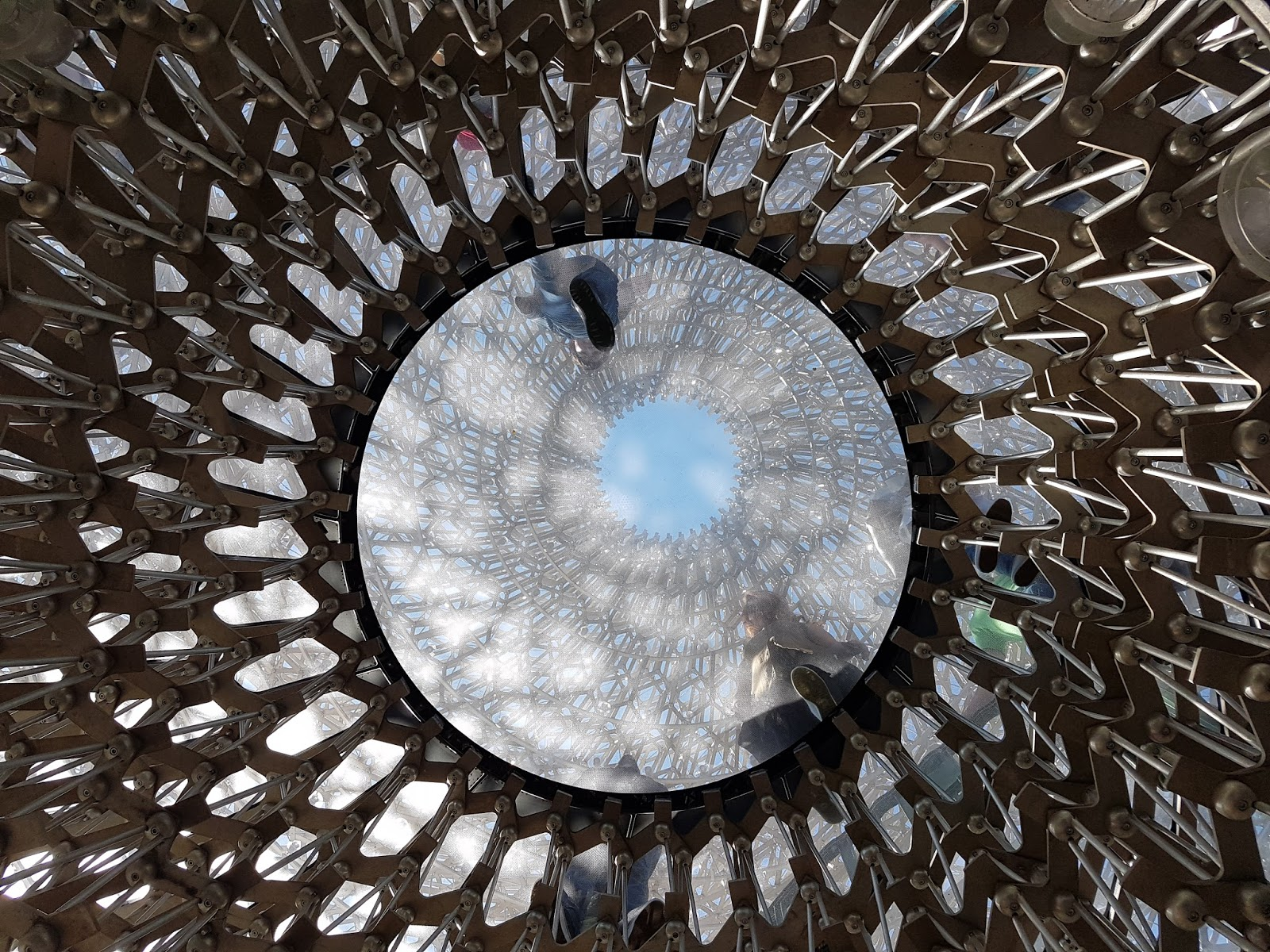 The Hive bee nest structure at Kew Gardens from below