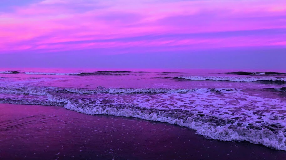 Waves, Sea, Seashore, Scenery, 4K, #6.987