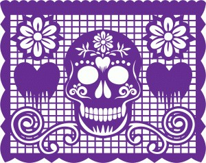 It is a graphic of Old Fashioned Papel Picado Templates Printable