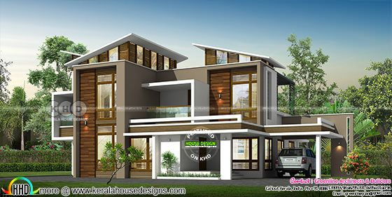 2694 sq-ft 4 bedroom modern contemporary house