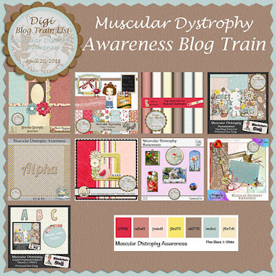 Digi Blog Train List Muscular Dystrophy Awareness Freebie
