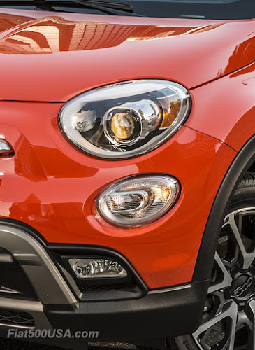 Fiat 500X bi-halogen headlights
