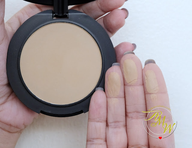 a swatch photo of Makeup World Cover|Up Pressed Powder Review by AskMeWhats Nikki Tiu