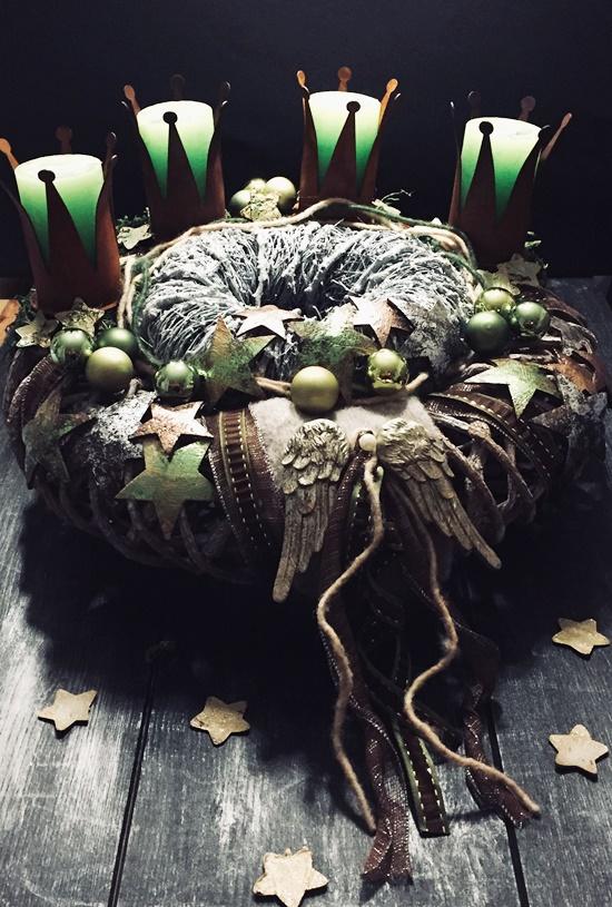 Weihnachten Kranz DIY Rostfarben Krone