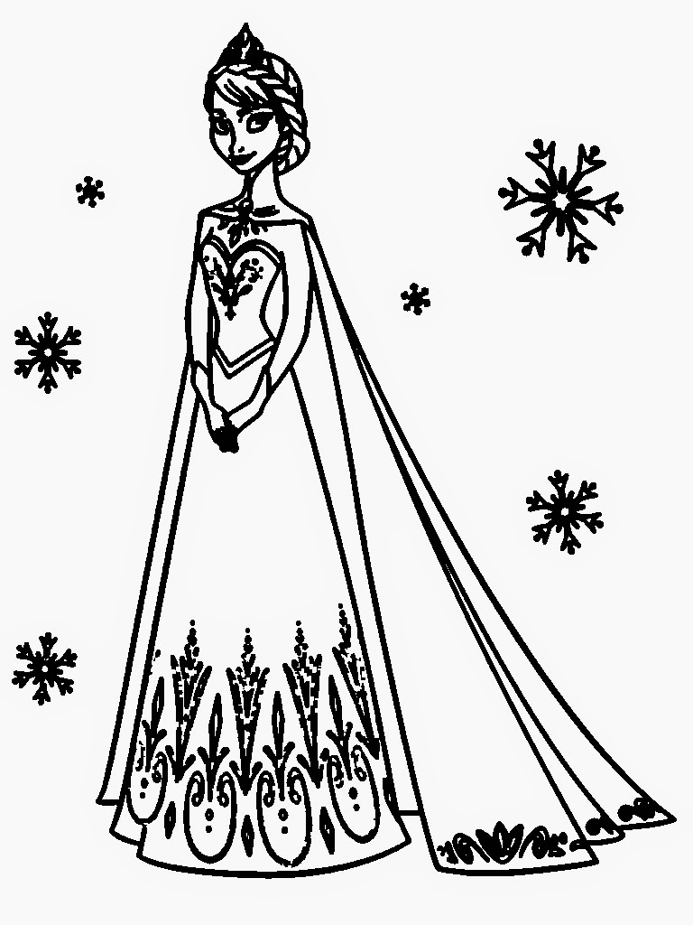 Downloads Frozen Coloring Pages Elsa