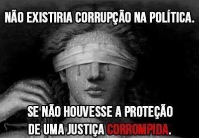 Resultado de imagem para justiça corrompida