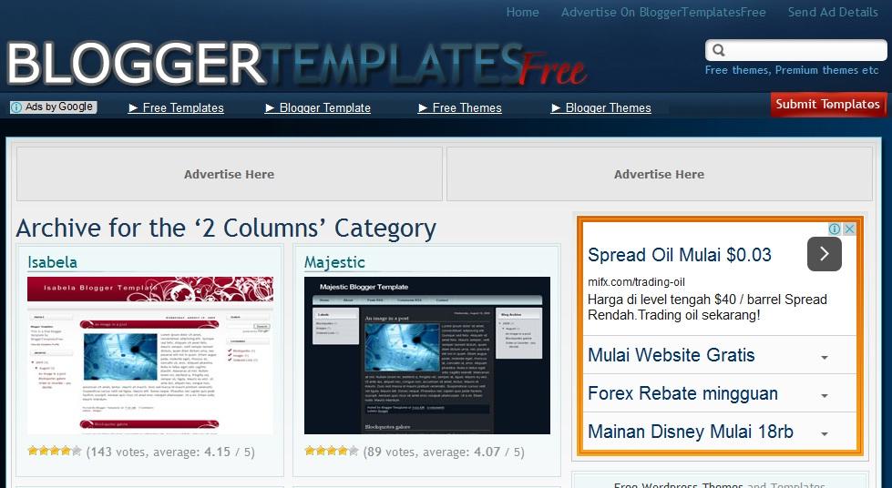 template, blog, website, layout