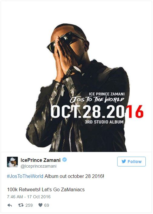 Rapper and Super Cool Cats CEO, IcePrince, is set to drop his third studio album.