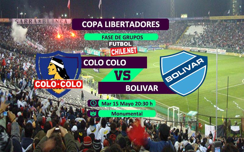 Mira Colo Colo vs Bolivar en vivo y online por la Copa Libertadores 2018