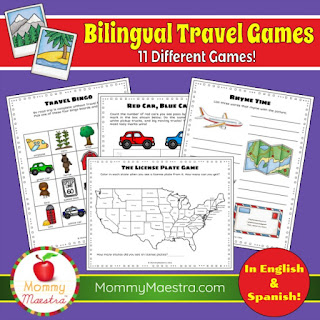 Bilingual Travel Games from MommyMaestra