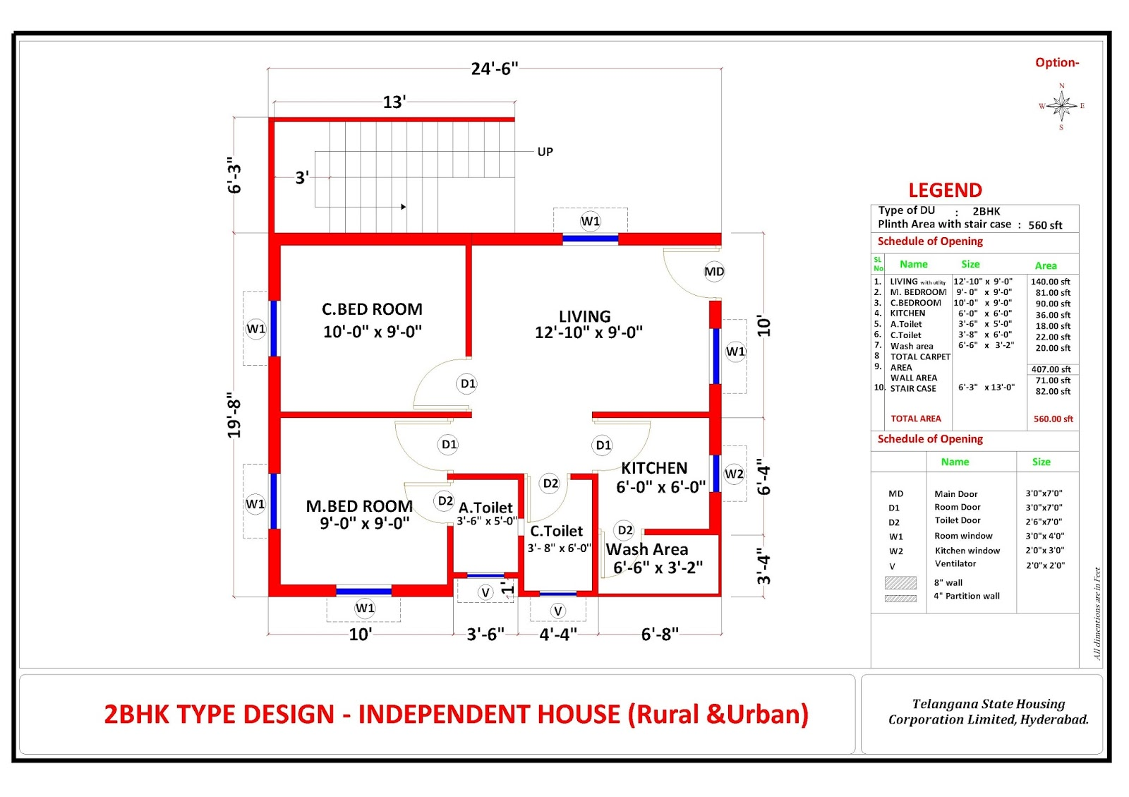 Plan Of 2bhk House House Plans