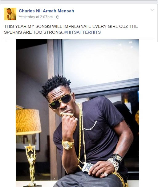 Ghana artiste Shatta Wale: This year my songs will impregnate every girl