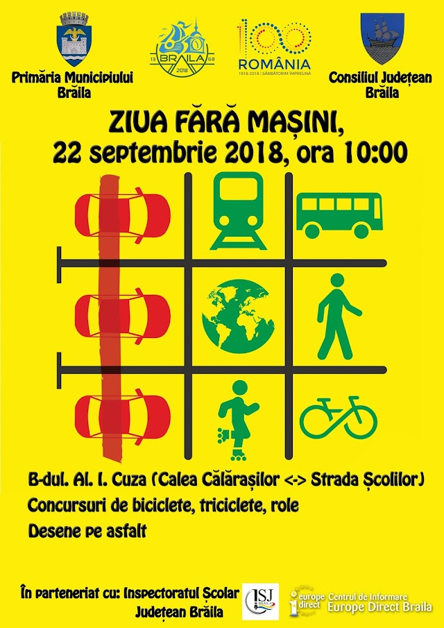 """22 septembrie – """"Ziua fără mașini"""""""
