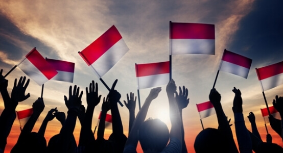 indonesian flag bendera