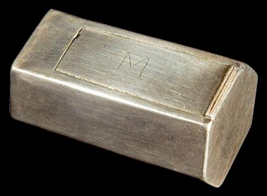 Caixa de prata misteriosa de Jamestown os EUA