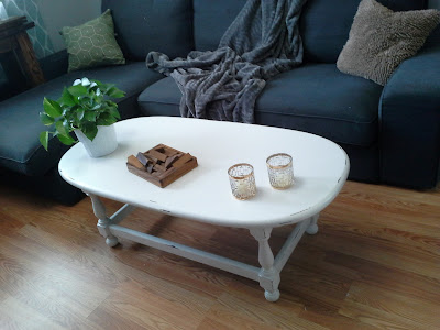 white oval distressed coffee table ethan allen