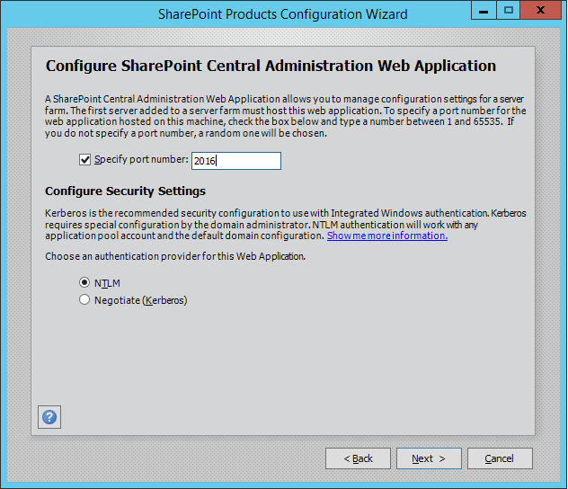sharepoint 2016 installation single server