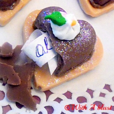 Easy to make Chocolate Hearts with a Hidden Message for your Valentine !