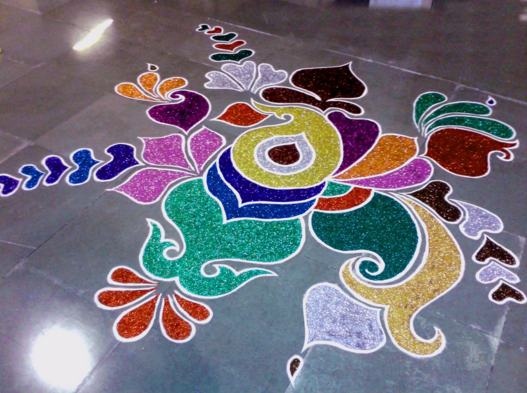 rangoli design video