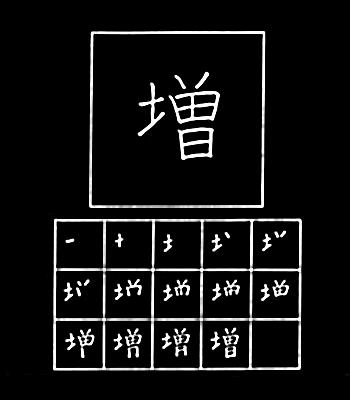 kanji increase