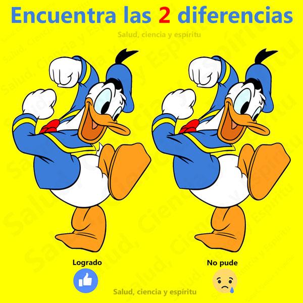 buscar diferencias en el pato donald para niños