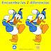 🔍 Encuentra las 2 diferencias en el Pato Donald