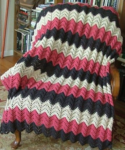 Lace Ripple Afghan - Free Pattern