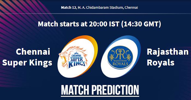 VIVO IPL 2019 Match 12 CSK vs RR Match Prediction, Probable Playing XI: Who Will Win?