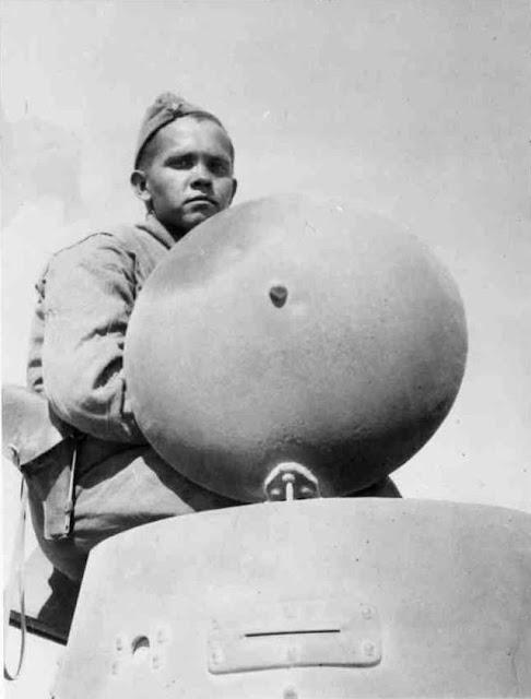Soviet soldier in BA-20 armored car, 25 August 1941 worldwartwo.filminspector.com