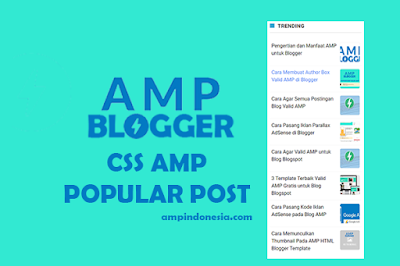 popular post AMp blogger