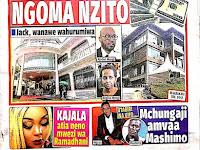 Magazeti Leo: Headlines Of Tanzania Newspapers Today 11 May 2019