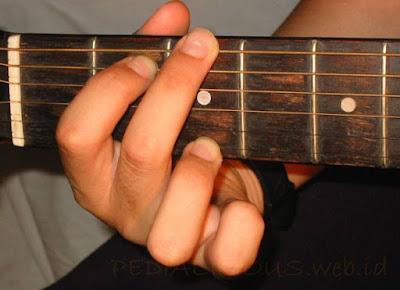 Cara Menekan Senar Chord G Major untuk Gitaris Kidal